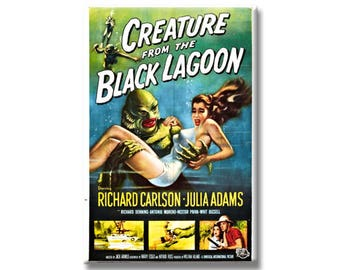 Creature From The Black Lagoon Horror Movie Poster 2 x 3 inch Rectangle Refrigerator Fridge Magnet Creature Feature from 1954