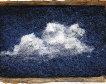 Night Clouds in white washed antique trim plinth