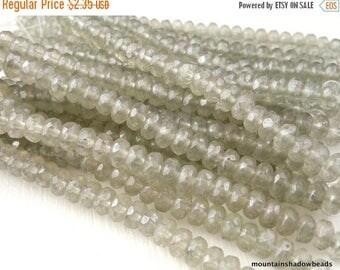50% OFF Sale 25 Czech Glass Beads 3x5mm Rondelles Black Diamond