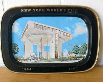 vintage New York 64 65 World's Fair tip tray