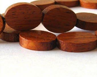 Bayong 15x20mm Flat Oval Beads