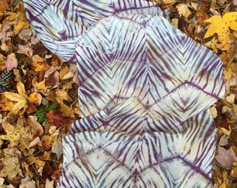 Striped Chevron Shapes in Violets