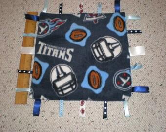 Tennessee Titans Fleece Baby Sensory Taggie Ribbon Blanket