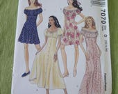 McCalls 7070 Misses Dress Jumpsuit and Romper Sewing Pattern sz 12 14 16 UNCUT