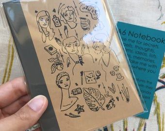 A6 Notebook - Women with Their Favorite Things