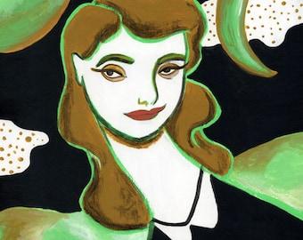 Luna Verde 8x10 print