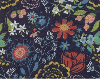 Biscuits and Gravy - Raise Babies in Picnic Blue: sku 30482-15 cotton quilting fabric by BasicGrey for Moda Fabrics