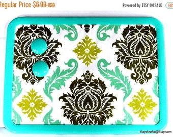 July 4th Sale Blue and Sage Green Damask Magnetic Board 8x11 Magnet Board Magnetic Bulletin Board Magnet Message Board College Dorm Decor Ki