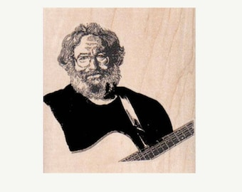 Man With Glasses  9905  rubber stamp Stamp  Hippie Rubber Stamp  new, old stock stamp, no longer produced
