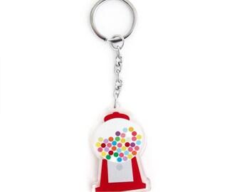 Gumball Machine,  Acrylic Keychain