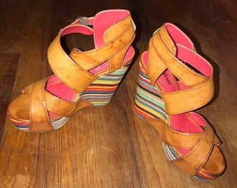Unlisted Vegan Leather Bend the Rules Wedge sz 7.5 by im.butterflycreations
