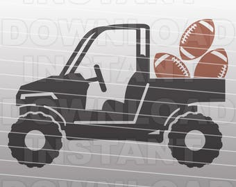 ATV with Football SVG File,ATV svg,4 Wheeler svg- Commercial & Personal Use- vector svg file for Cricut,svg file for Silhouette,vinyl cut