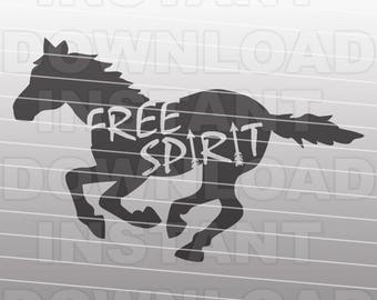 Mustang SVG File,Free Spirit Horse SVG,Pony svg -Commercial & Personal Use- Vector svg file for Cricut,svg file for Silhouette,vinyl cutter