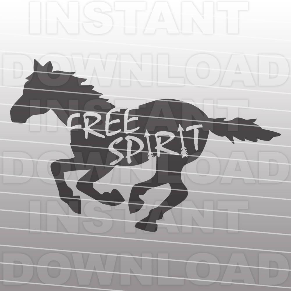 mustang svg file free spirit horse svg pony svg