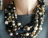 Black Magic...A Multi-Strand Necklace from Wendy Baker