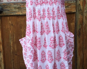 Handmade apron, cooking or crafts apron, prairie girl apron, Market apron