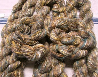 hand worked hand dyed hand spun 2ply sportweight art yarns set of 8
