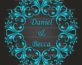 Wedding Mandala Digital INSTANT Download SVG file or All Occasion, Art Image, Cut File for Cricut & Silhouette for Vinyl and  HTV