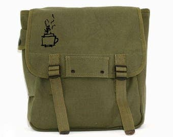 Backpack, Backpack for Women, Hipster Backpack, Military Backpack, Canvas Backpack, Travel Backpack, Army Backpack, Rucksack, Coffee & Tea
