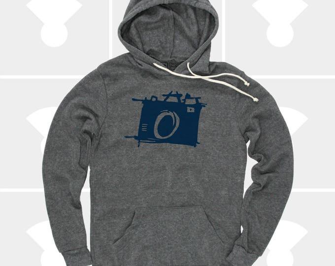 Featured listing image: CAMERA Pullover Hoodie   Sketch Camera Fleece Sweatshirt   Unisex   Photographer Gift   Gift for Men   Film   Men & Women Hoodie