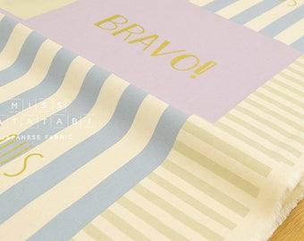 Japanese Fabric Kokka Lucky Typo - B - 50cm