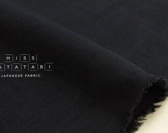 Japanese Fabric 100% linen - black -  50cm