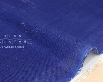 Nani Iro Kokka Naomi Ito Linen Gauze Japanese Fabric - Symphony Blue - 50cm