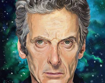 Doctor Who Peter Capaldi  Portrait Art Print 8 x 10 inches