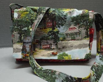 Shoulder Carry Bag or Purse, Crossbody Bag, Coke Country