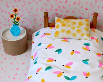 Doll Bedding Set - colorful leaves