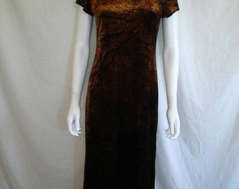 Closing Shop 40%off SALE 90s crushed velvet long dress