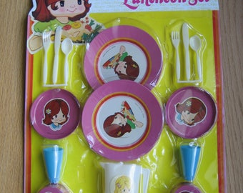 "Vintage Miss Merry's Luncheon Set toy dishes play ""metalwear"" for children"