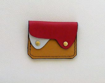 Small Leather Wallet, Coin Purse, Card Case, Slim Leather Wallet, Compact Leather Wallet
