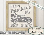 Valentine SVG - Old Truck with Hearts SVG - truck with hearts svg  - Commercial Use SVG - Valentine Special Delivery -  svg, dxf, png, jpg