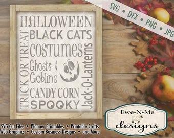 Halloween SVG - halloween subway svg  - Jack o Lantern SVG - Trick or Treat svg - Black Cat - Commercial Use svg, dfx, png and jpg files
