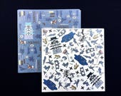 Japanese  Paper - Chiyogami Paper - Origami Paper - 2 Patterns 30 Sheets 15 x 15 cm Lots of Samurai and Ninja (P6)