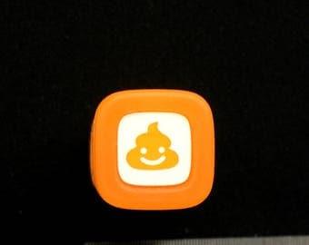 Poo  Rubber Stamp - Japanese  Rubber Stamp -  Orange Self Inking Pre Inked