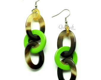 Horn & Lacquer Earrings - Q12867-F