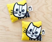 Cat Fabric Lavender Bag by Jane Foster