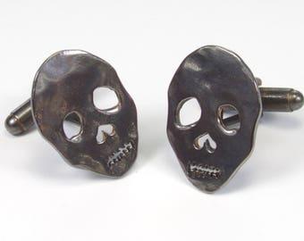 Fathers Day, Skull Cufflinks, Gold Skull, Black Skull, Silver Skull, Mens Accessories, Hand Made Cufflink, Gifts For Him,
