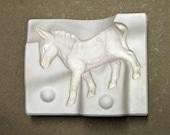 Reserved for Jeana - Ceramic Mold Vintage Donkey Burro Animal Planter Trenton Mold 3 Piece Mold