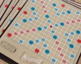 Lot of 4 Scrabble game boards for crafts or decoration