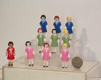 Miniature dollie handpainted