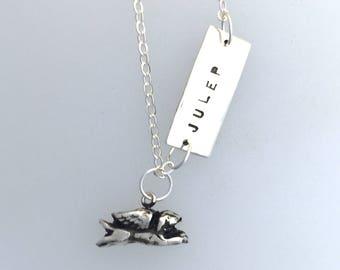Dog Memorial necklace-Dog Jewelry-Pet Memorial Necklace-Rescue dog-Rainbow Bridge-Dog Angels-Gift-Vegan necklace-Vegan Jewelry-Dog Lover