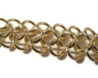 Gold Plated Chain, 16 Inch Piece of Specialty Chain, AMAZING Chain, Jewelry Supplies (F-1b)