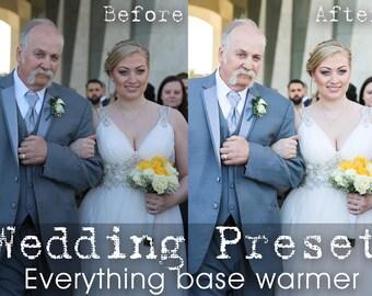 Wedding Lightroom Preset Everything Base Warmer LR Preset Pro Photo Editing, Portrait, Wedding Presets, Photo Retouch, Brighten Lighten