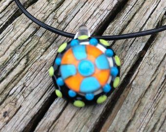 Handmade Lampwork Glass Pendant Necklace