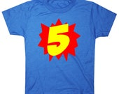Superhero Fifth Birthday Shirt 5th birthday shirt Five boy birthday shirt girls birthday shirt Superhero 5th Birthday Shirt Boys Birthday