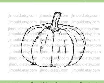 Digital Rubber Stamp Limited Edition Instant Download JessicaLynnOriginal Happy Halloween Pumpkin Costume Limited License Card Making