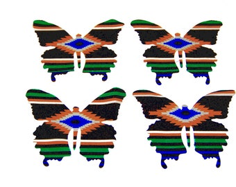 4 Large Cotton Butterflies (Set 1)
